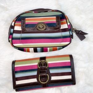 Coach Legacy wallet and cosmetic bag